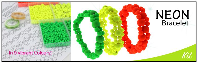neon bracelet banner