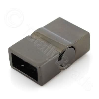 Magnetic Clasp - Sliding Square 20mm - Black