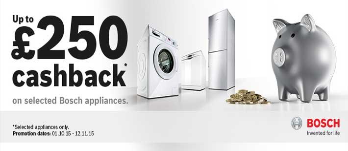 Promotions: Bosch Autumn Upto £250 Cashback Offer