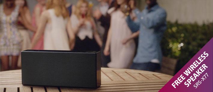 Promotions: Free Sony SRS-X77 Wireless Speaker Offer