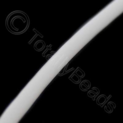 PVC Round Tube 3mm - White 4metres