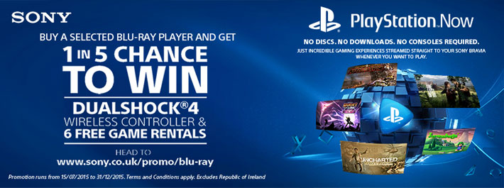 Playstation Now Available on Sony TVs