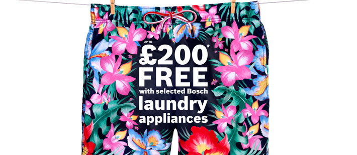 Promotions: Up to £200 Free With Bosch Appliances