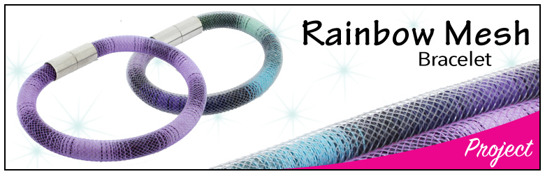 rainbow mesh banner